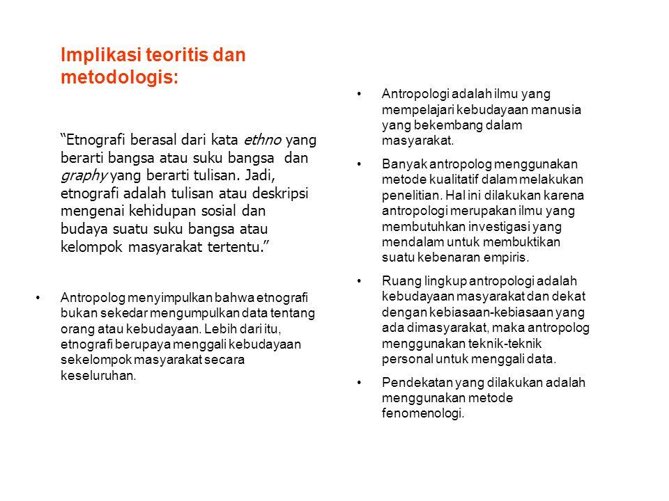 Implikasi teoritis dan metodologis: