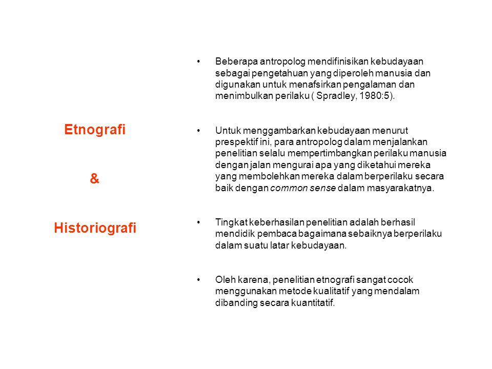 Etnografi & Historiografi