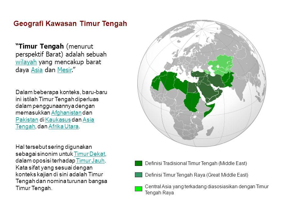 Geografi Kawasan Timur Tengah