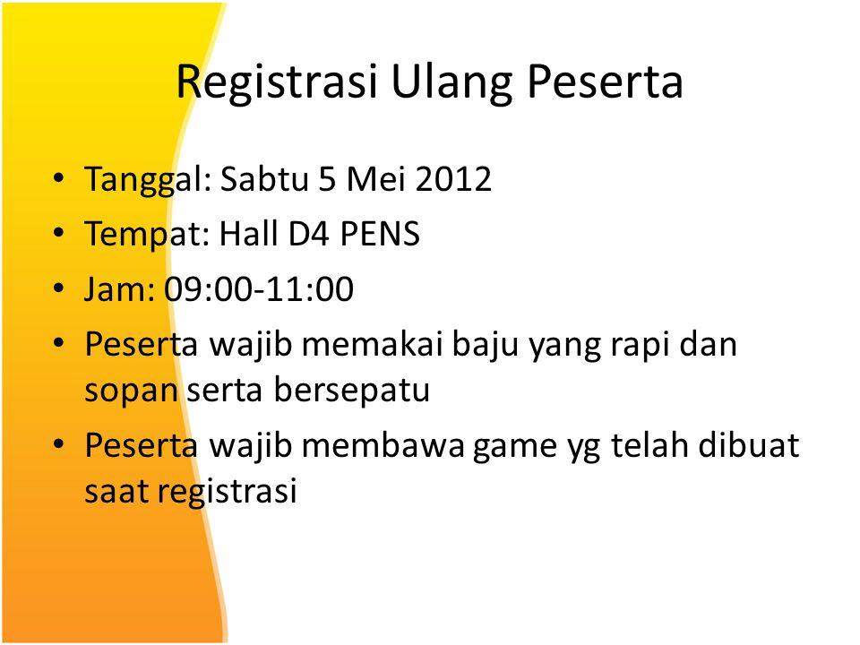 Registrasi Ulang Peserta
