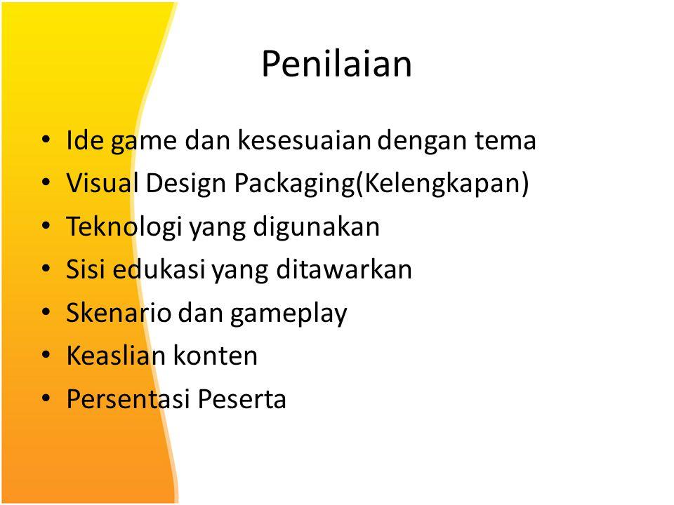 Penilaian Ide game dan kesesuaian dengan tema