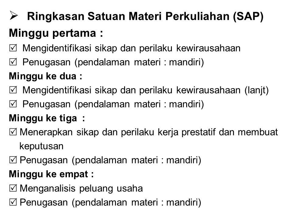 Ringkasan Satuan Materi Perkuliahan (SAP)