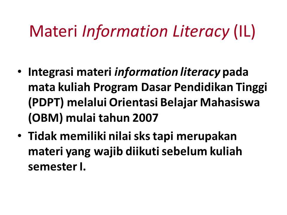 Materi Information Literacy (IL)