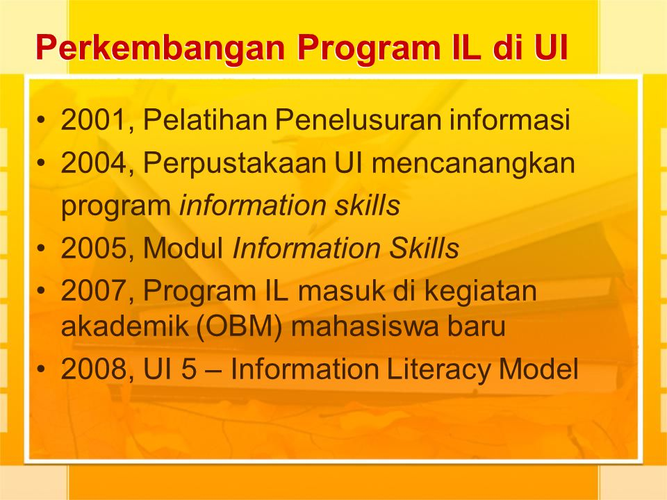 Perkembangan Program IL di UI