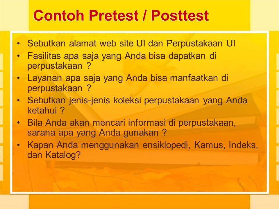 Contoh Pretest / Posttest