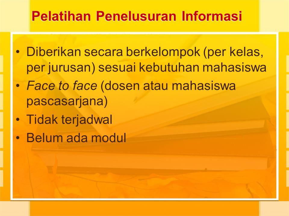 Pelatihan Penelusuran Informasi
