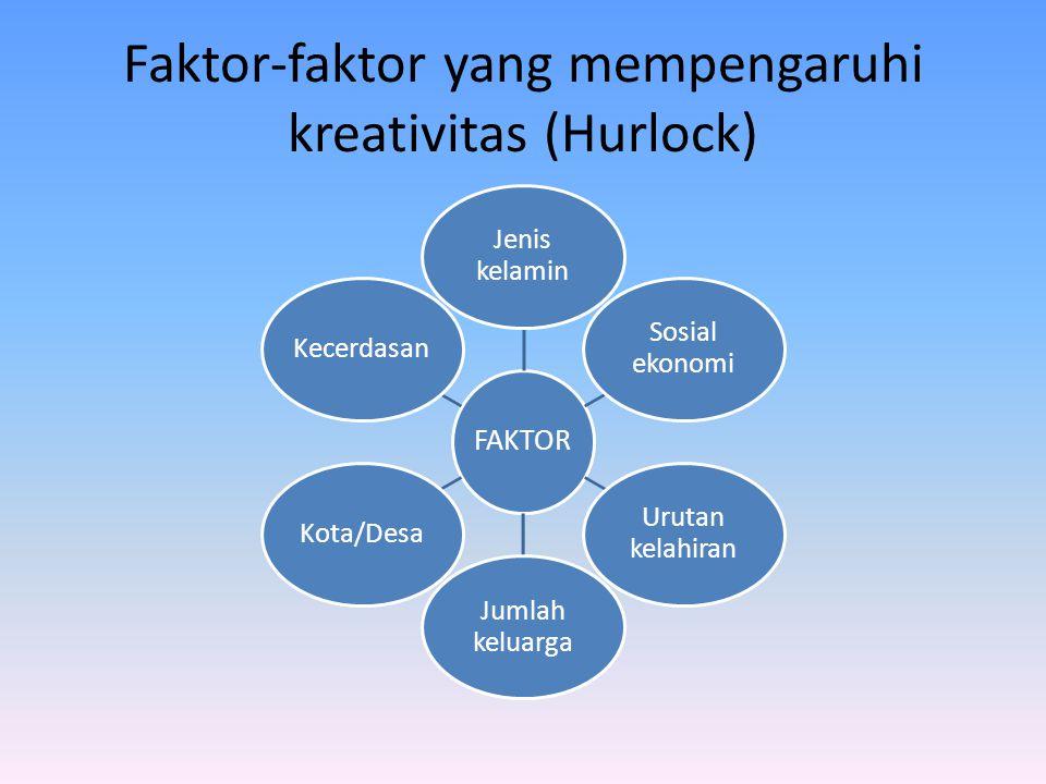 Faktor-faktor yang mempengaruhi kreativitas (Hurlock)
