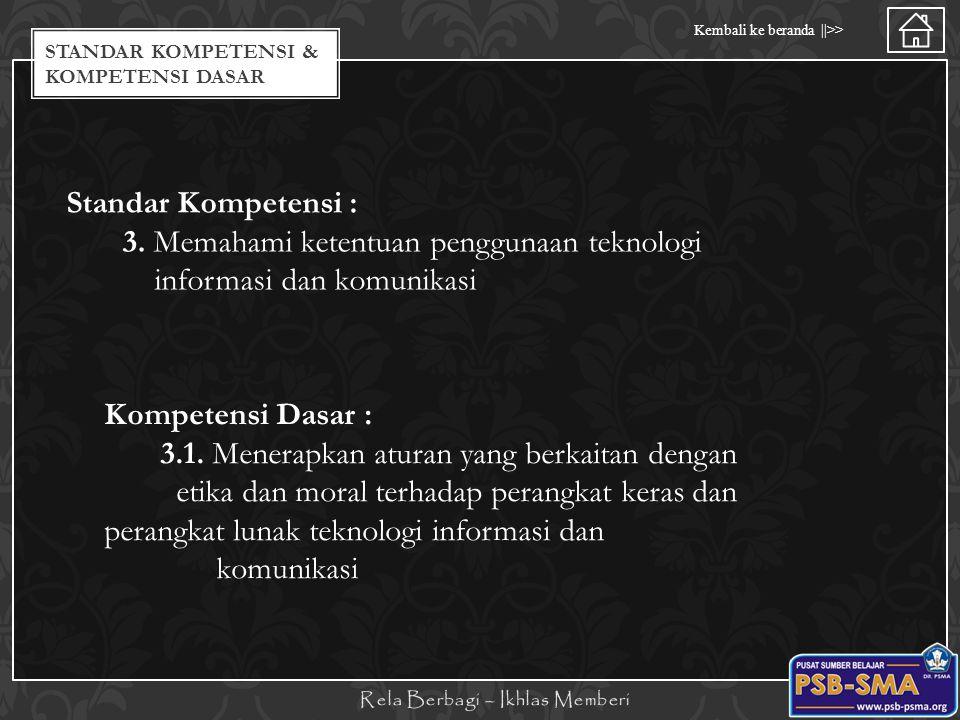 Standar kompetensi & Kompetensi dasar