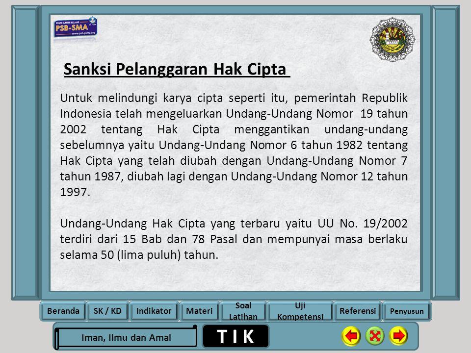 Sanksi Pelanggaran Hak Cipta