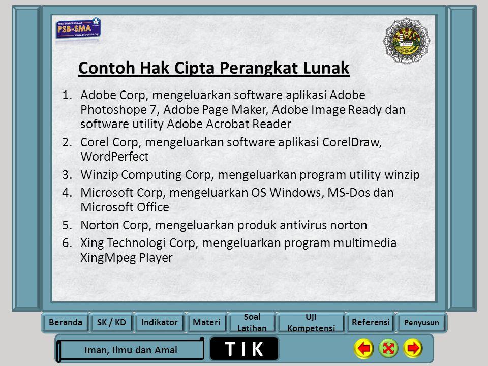Contoh Hak Cipta Perangkat Lunak