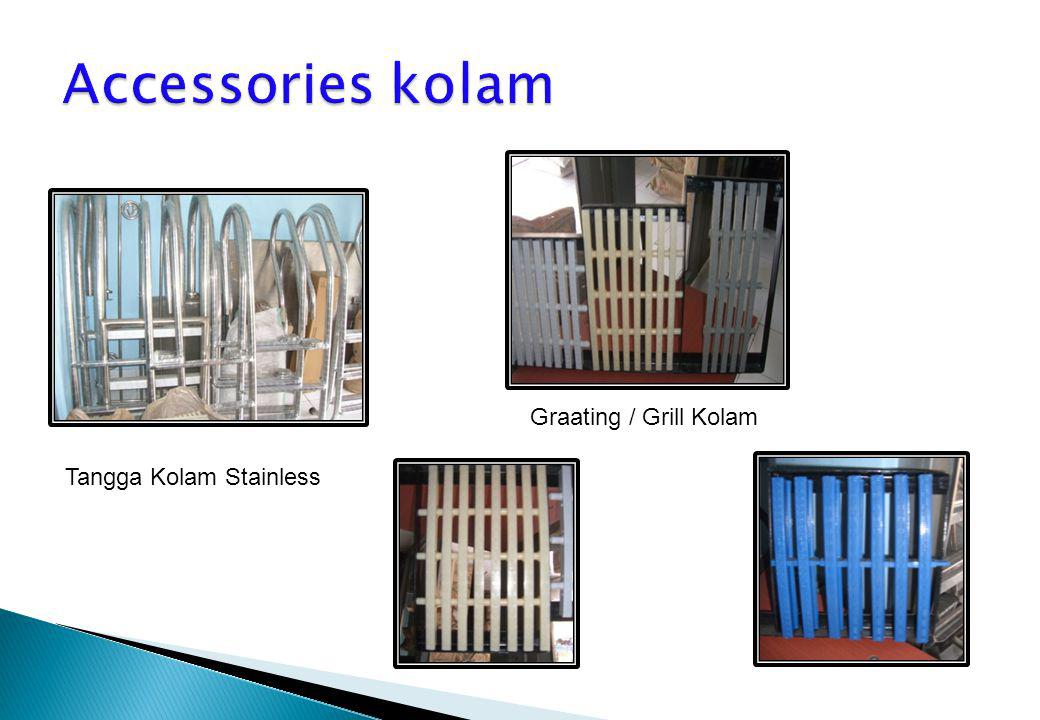 Accessories kolam Graating / Grill Kolam Tangga Kolam Stainless