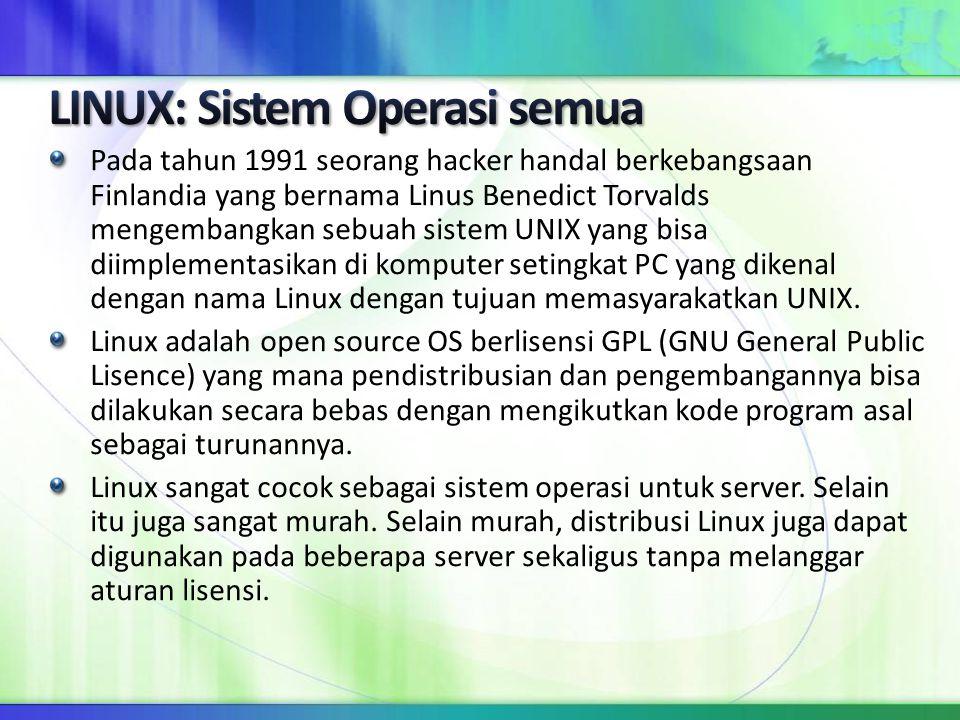 LINUX: Sistem Operasi semua