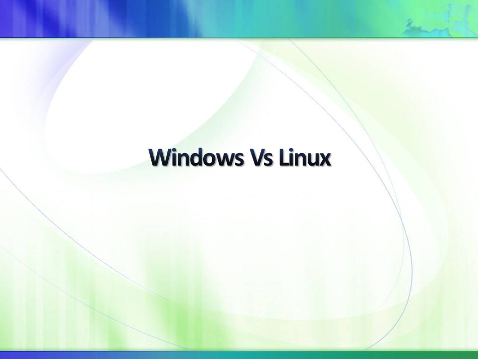 4/8/2017 7:50 AM Windows Vs Linux.