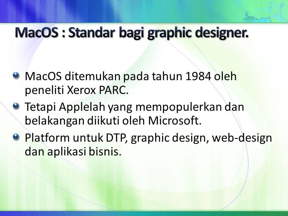 MacOS : Standar bagi graphic designer.