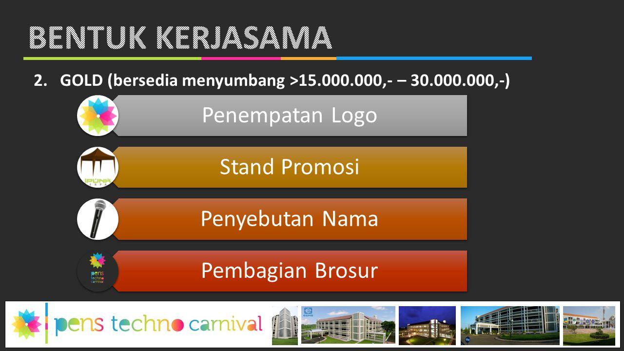 BENTUK KERJASAMA Penempatan Logo Stand Promosi Penyebutan Nama