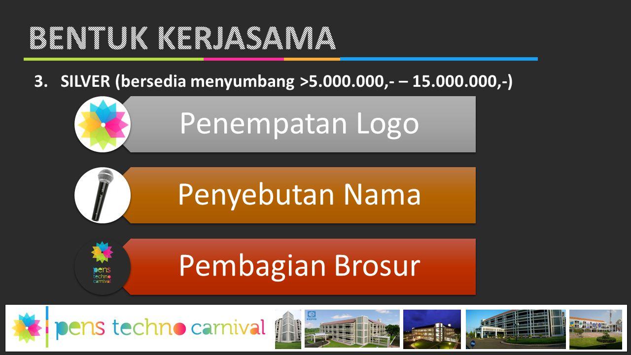 BENTUK KERJASAMA Penempatan Logo Penyebutan Nama Pembagian Brosur