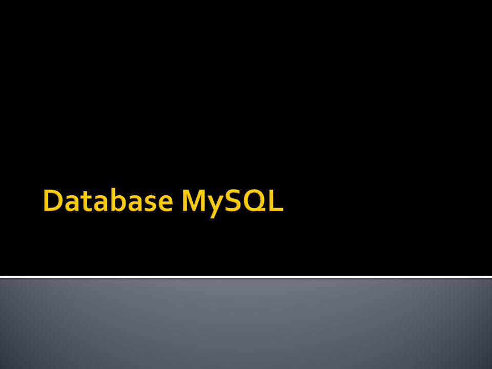 Database MySQL