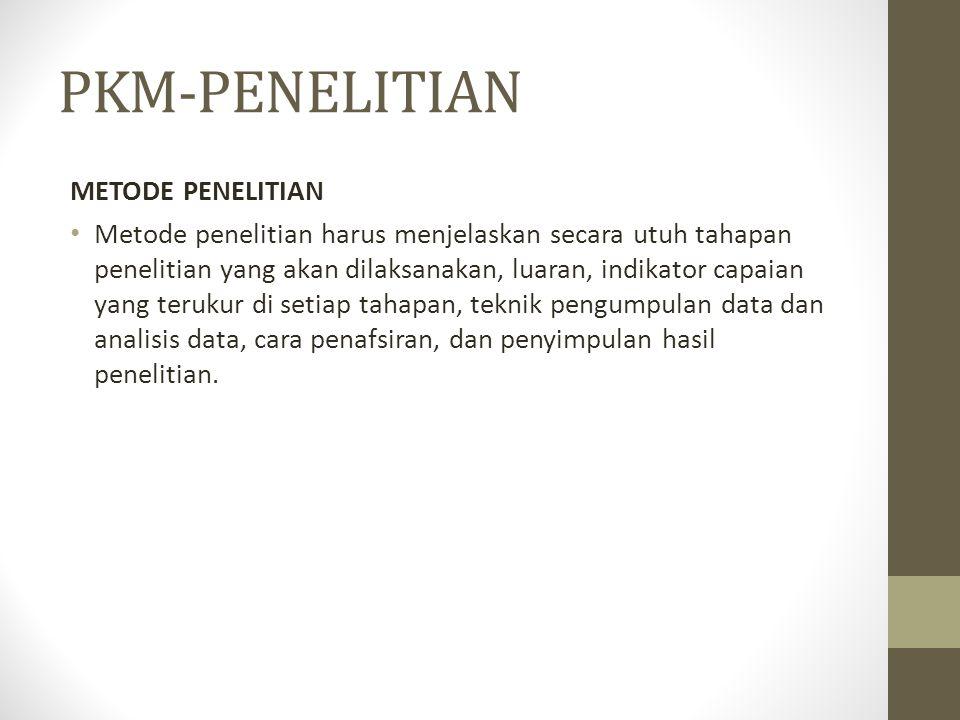PKM-PENELITIAN METODE PENELITIAN