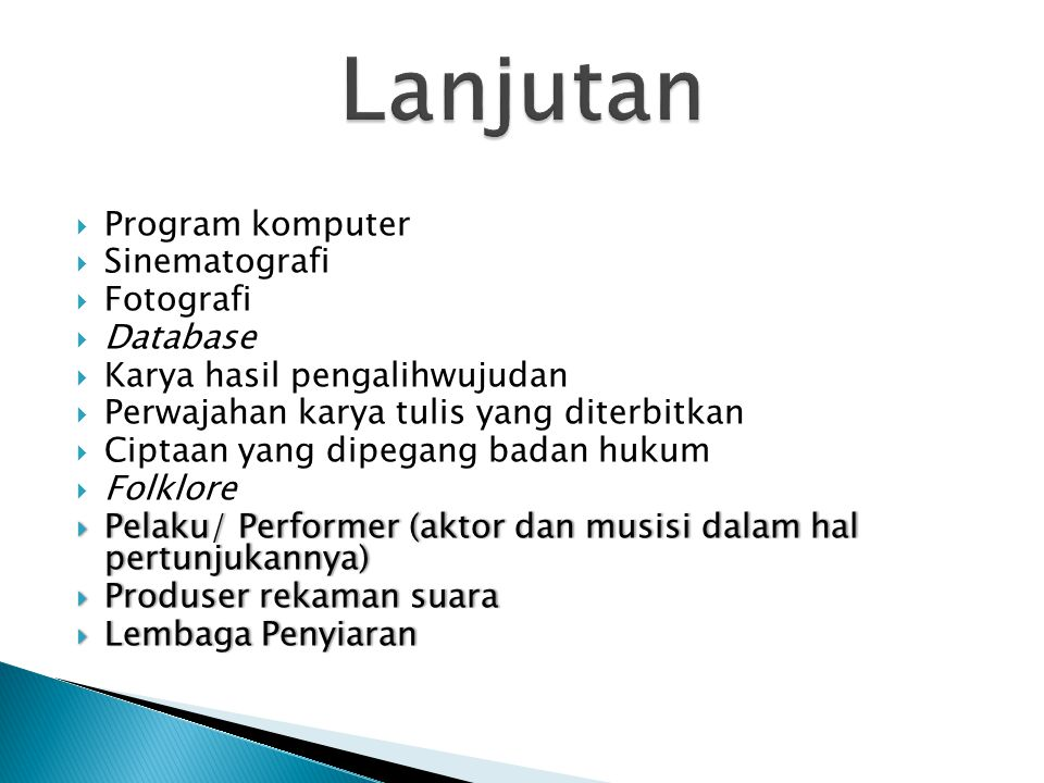 Lanjutan Program komputer Sinematografi Fotografi Database