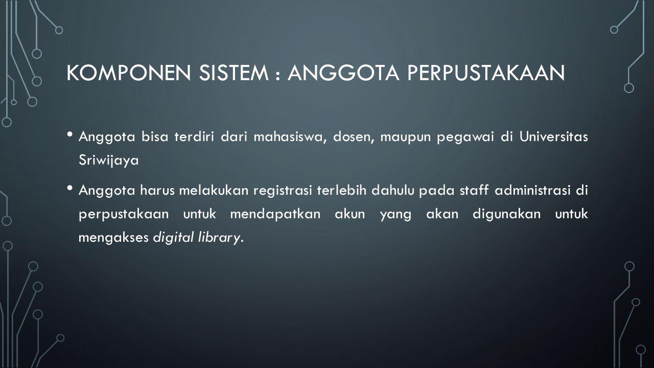 Komponen sIstem : anggota perpustakaan