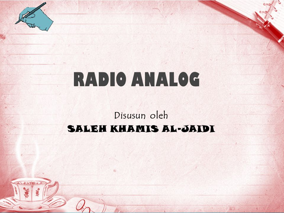 Disusun oleh SALEH KHAMIS AL-JAIDI