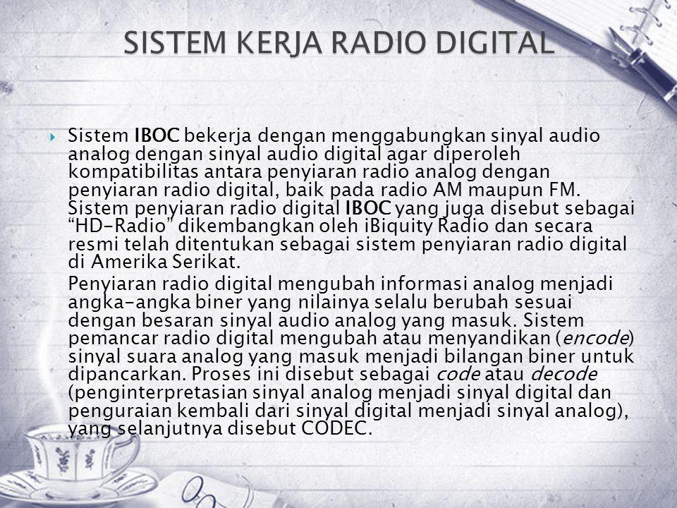 SISTEM KERJA RADIO DIGITAL