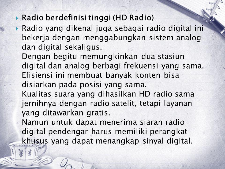 Radio berdefinisi tinggi (HD Radio)