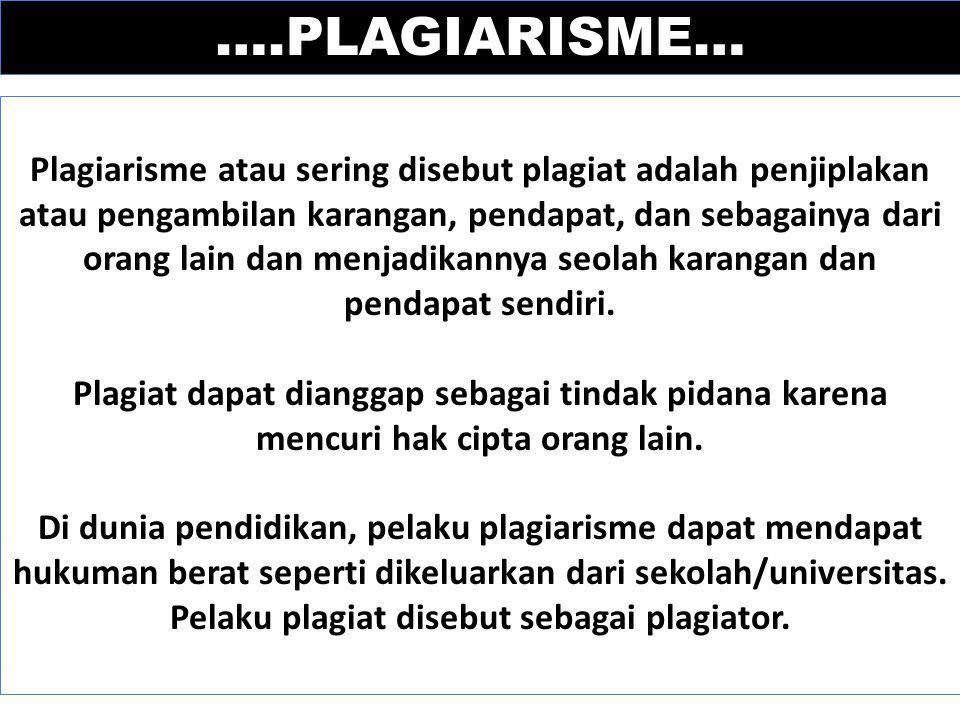 ….PLAGIARISME…