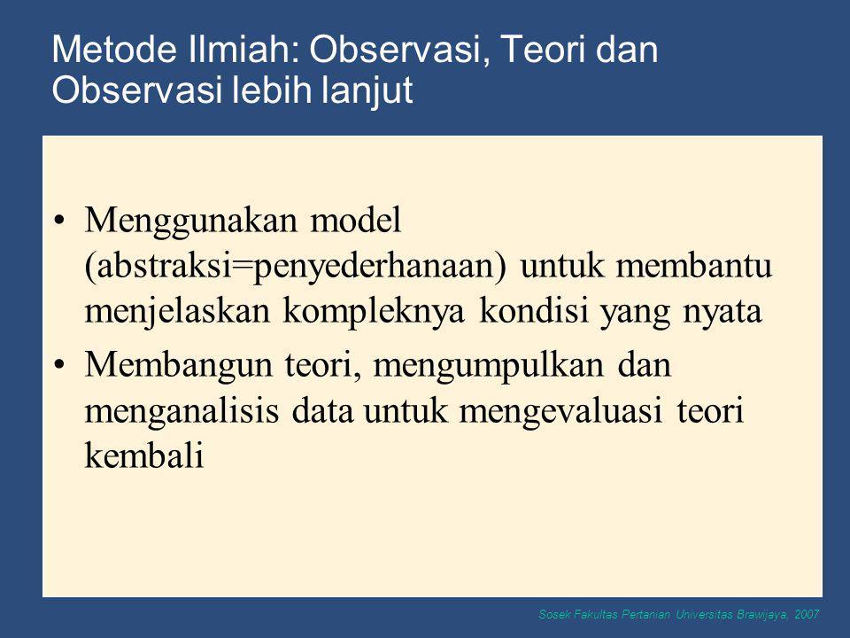 Metode Ilmiah: Observasi, Teori dan Observasi lebih lanjut