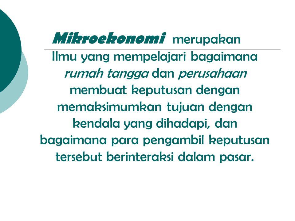 Mikroekonomi merupakan