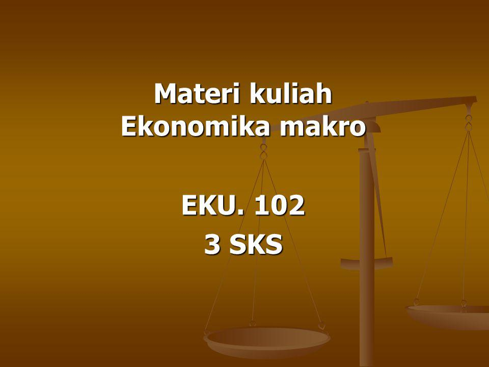 Materi kuliah Ekonomika makro EKU. 102 3 SKS