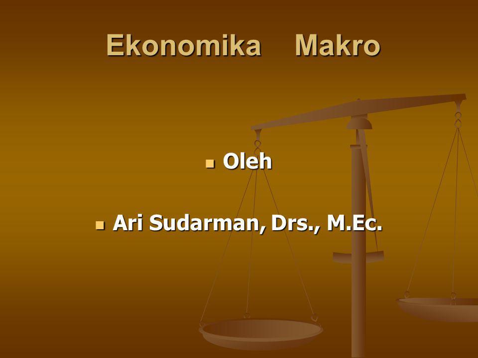 Ekonomika Makro Oleh Ari Sudarman, Drs., M.Ec.