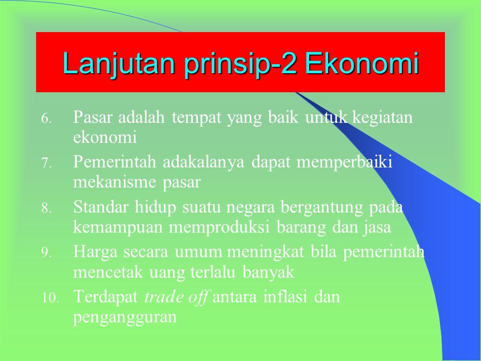 Lanjutan prinsip-2 Ekonomi