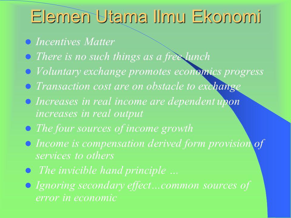 Elemen Utama Ilmu Ekonomi