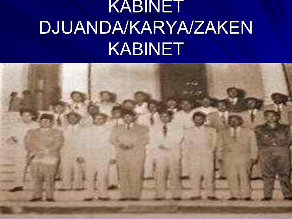 KABINET DJUANDA/KARYA/ZAKEN KABINET