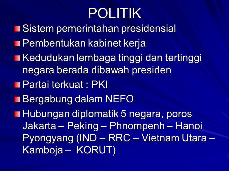POLITIK Sistem pemerintahan presidensial Pembentukan kabinet kerja