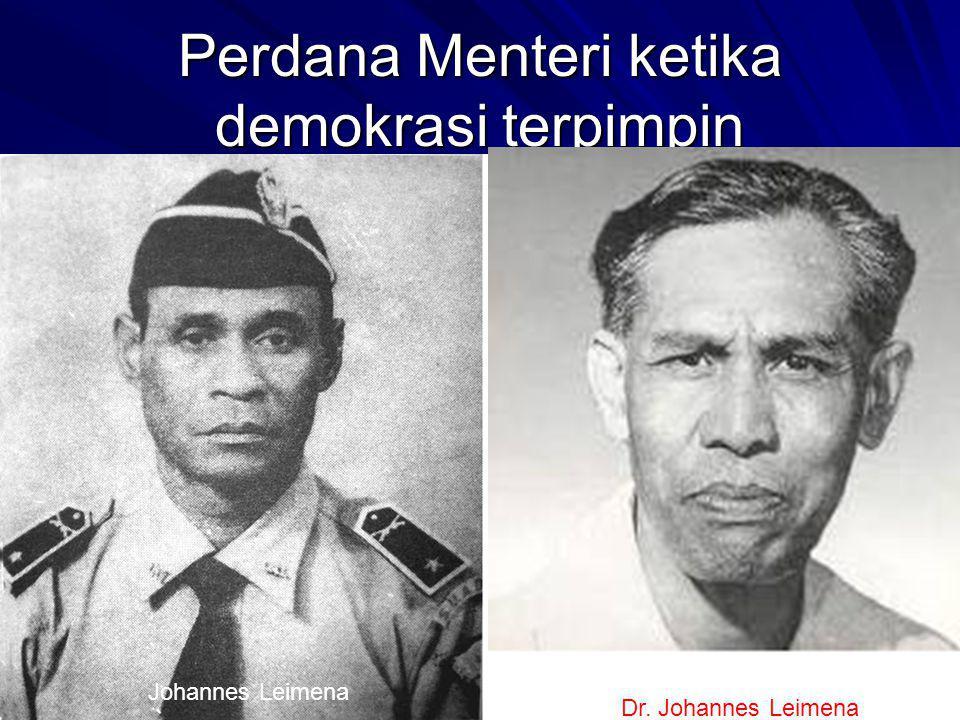 Perdana Menteri ketika demokrasi terpimpin