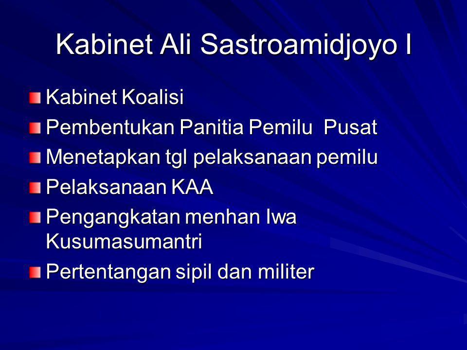 Kabinet Ali Sastroamidjoyo I