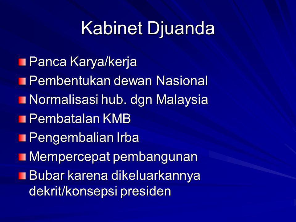 Kabinet Djuanda Panca Karya/kerja Pembentukan dewan Nasional