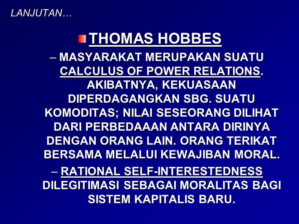 LANJUTAN… THOMAS HOBBES.