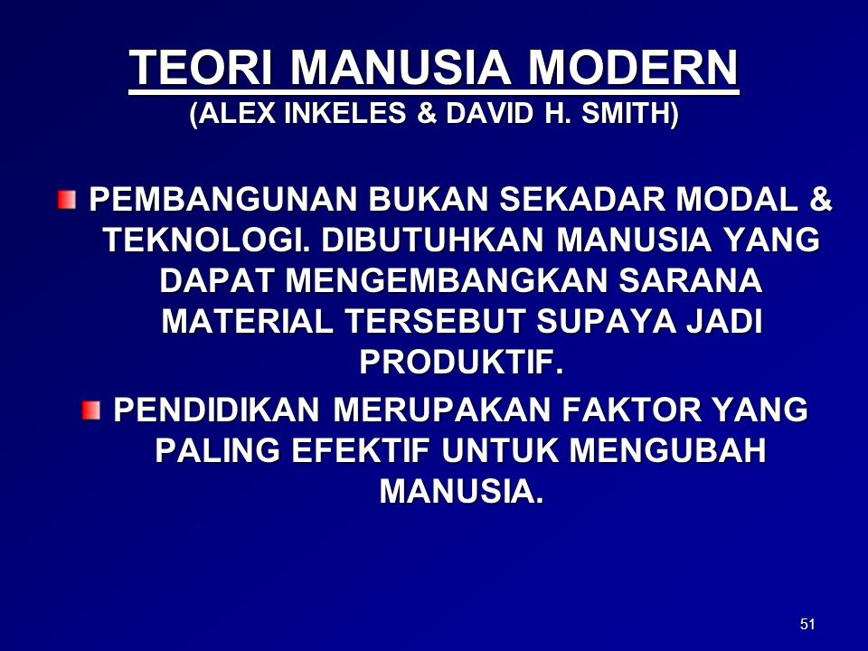 TEORI MANUSIA MODERN (ALEX INKELES & DAVID H. SMITH)
