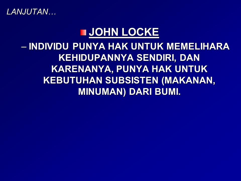 LANJUTAN… JOHN LOCKE.