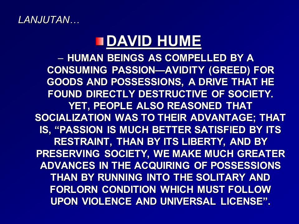 LANJUTAN… DAVID HUME.