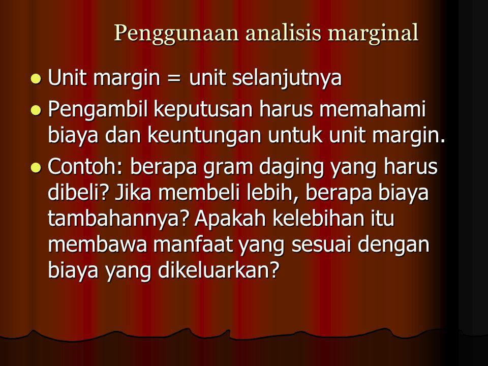 Penggunaan analisis marginal