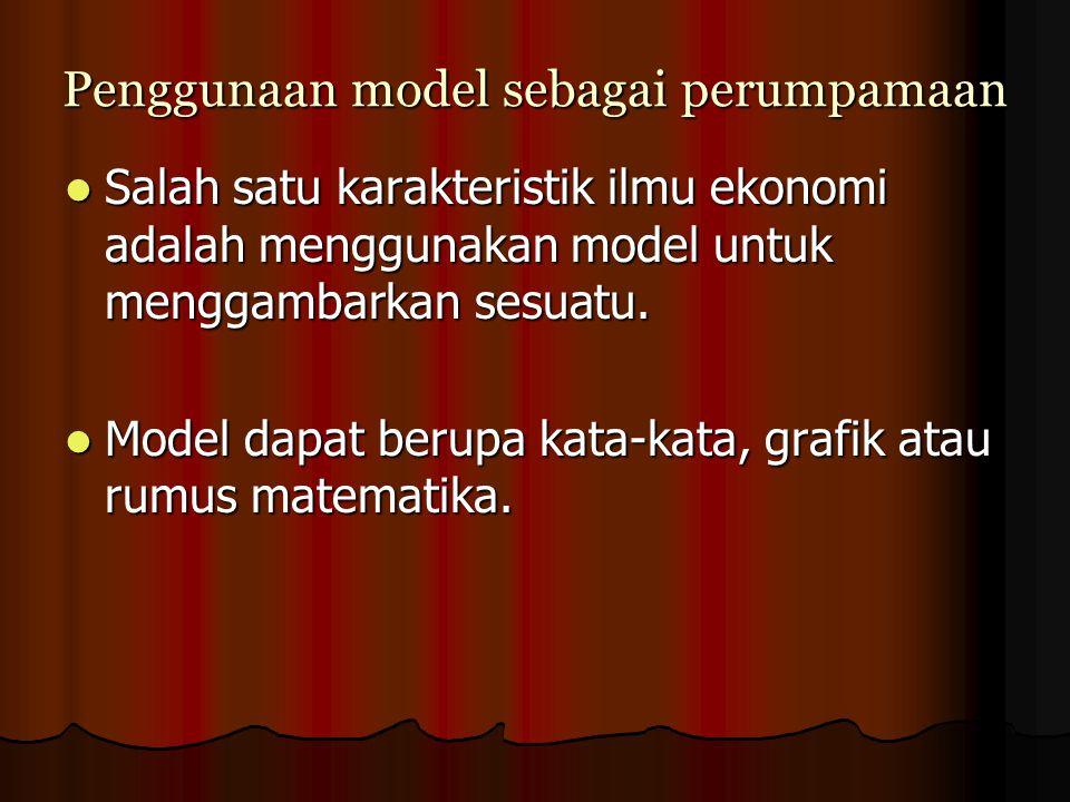 Penggunaan model sebagai perumpamaan