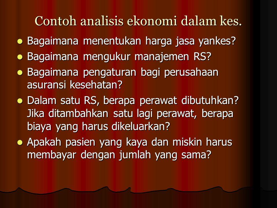 Contoh analisis ekonomi dalam kes.