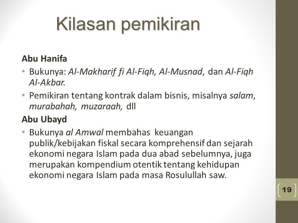 Kilasan pemikiran Abu Hanifa