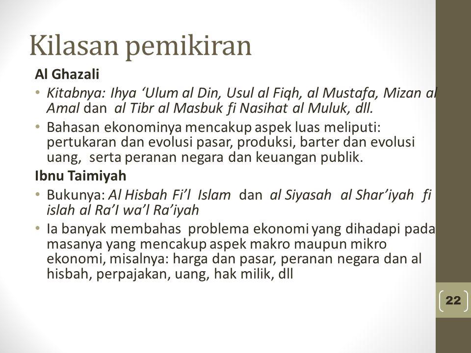 Kilasan pemikiran Al Ghazali