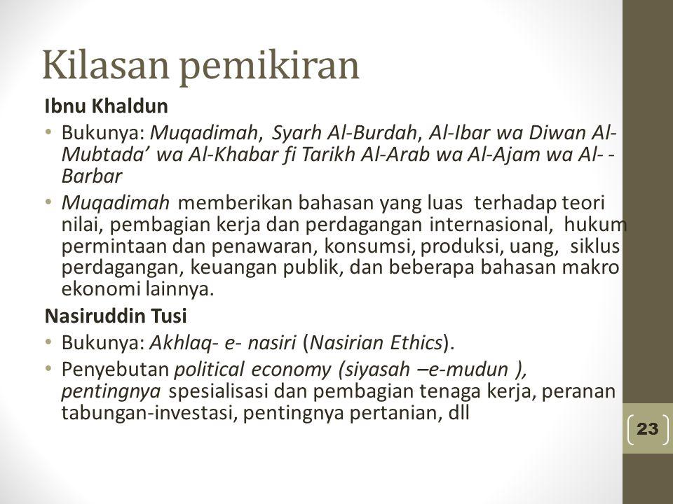 Kilasan pemikiran Ibnu Khaldun
