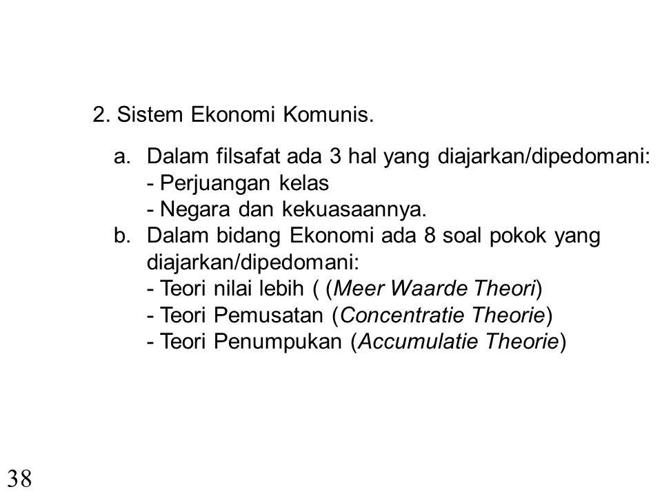 38 2. Sistem Ekonomi Komunis.
